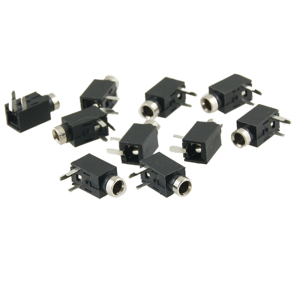 10 Pcs PCB Mounting 3 Pole Terminals Female 2.5mm Audio Jack Socket 11 x 5 x 5mm for Audio-Video Equipment new total english starter workbook with key cd