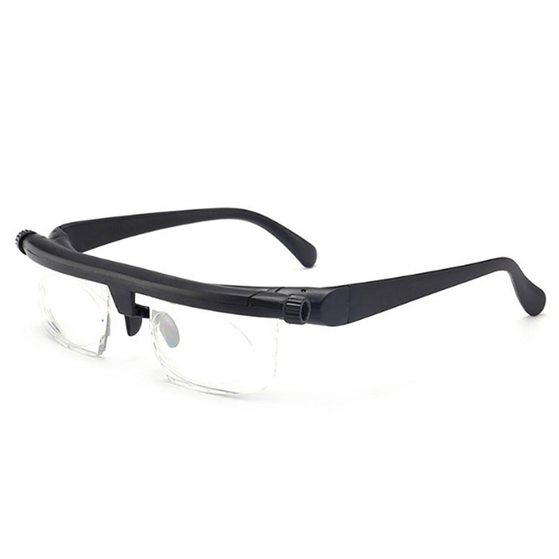 Adjustable Strength Lens Reading Myopia Glasses Eyewear Variable Focus Vision Eyeglasses