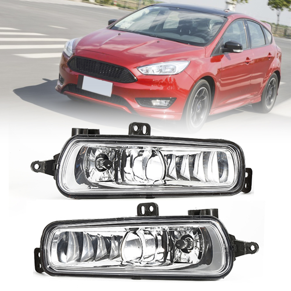 все цены на 2PCs Fog Diving Lights Replacement Left and Right for Ford Focus 2015-2017 with Clear Lens Driving Lamps Car Lights онлайн