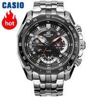 Часы Casio Edifice Мужские кварцевые спортивные часы Бизнес тренд тайминг водонепроницаемые часы EF 550 EF 558