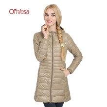 d40891edfec20 OMLESA Ultra Light Down Coats 2017 New Autumn Winter Jacket Women 6XL Duck  Down Parka hooded