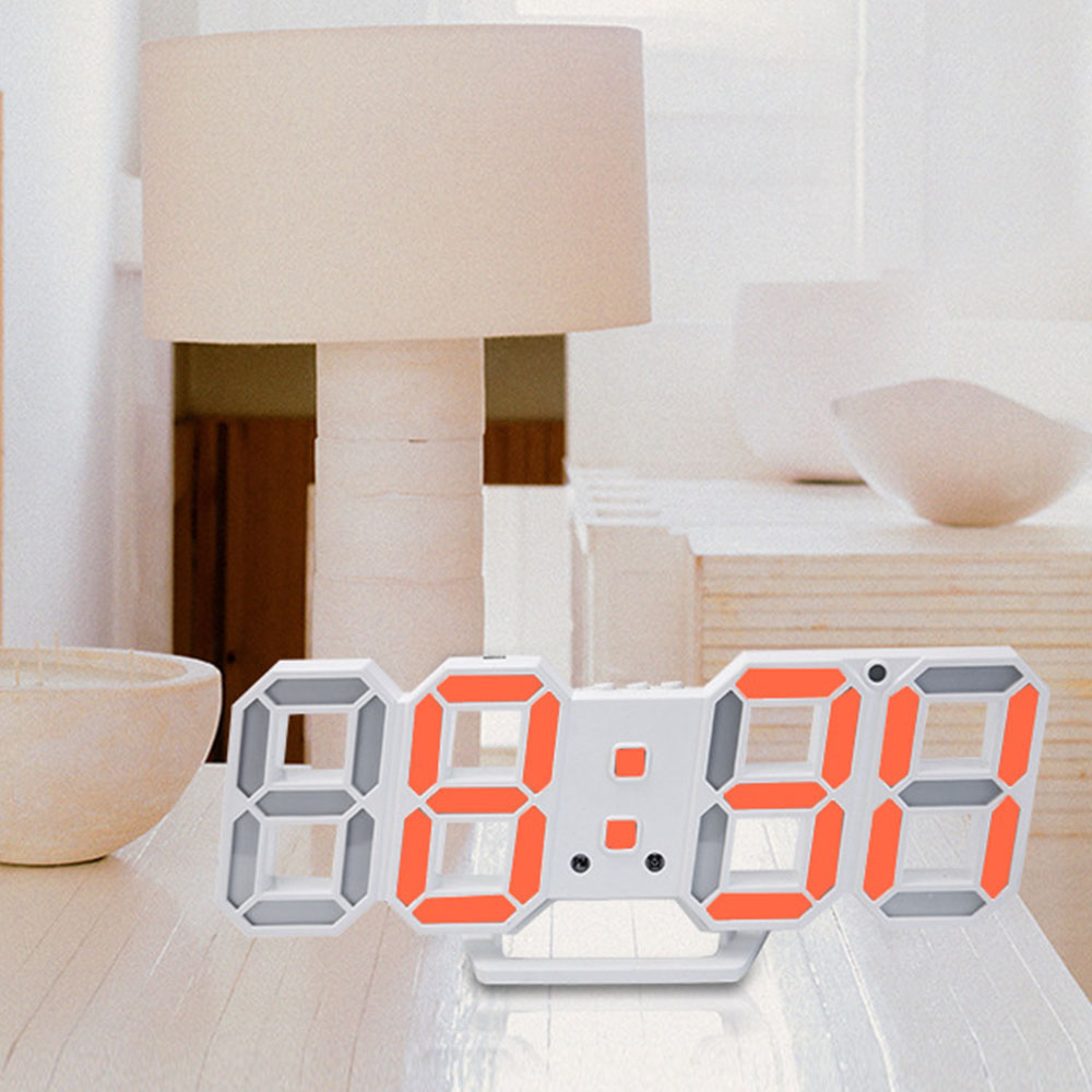 3D LED Wall Clock Modern Digital Table Desktop Alarm Clock Nightlight Wall Clock For Home Office 24 or 12 Hour Digital Watches image