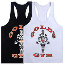 2018 Hot Sale Black White Tank Top Men Sleeveless Shirt Bodybuilding Fitness Men's Cotton Singlets Muscle Clothes Workout Vest