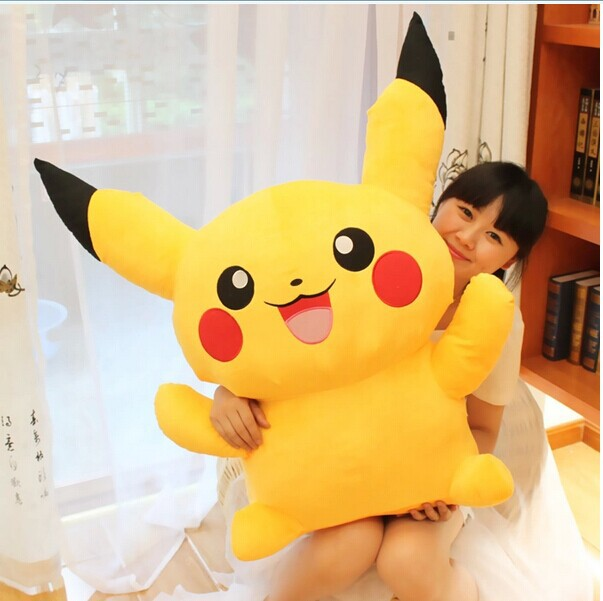 ФОТО huge 100cm Pokemon Pikachu plush toy doll birthday gift w5385