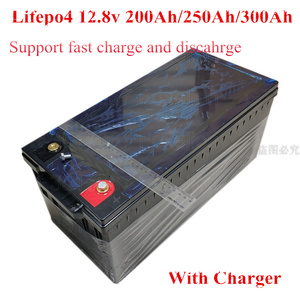 12V 200AH 300ah LifePo4 Lithium Iron Phosphate Battery Deep Cycles 200A BMS for Solar Energy System Party Outdoor + 20A charg(China)