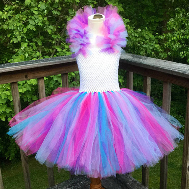 Special Unicorn Baby Girls Dresses with Tulle Straps Baby
