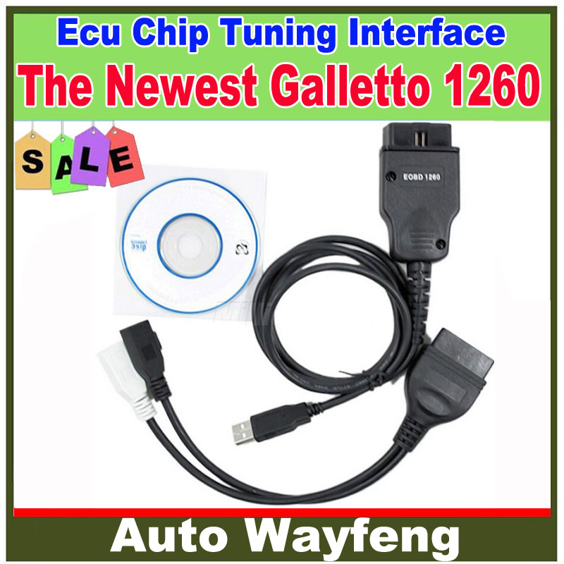 2108c7f65fbfb 2015 Promoção Estilo Do Carro Estacionamento Hot! o Mais Novo Galletto 1260  Eobdii Flasher Flasher Ecu Tuning Chip de Interface