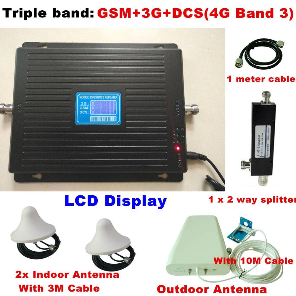 2G 3g 4G GSM 900 3g 2100 LTE 4G 1800 трехдиапазонный сигнала мобильного телефона для мобильного телефона усилитель сигнала для ретранслятора усилитель 4 а