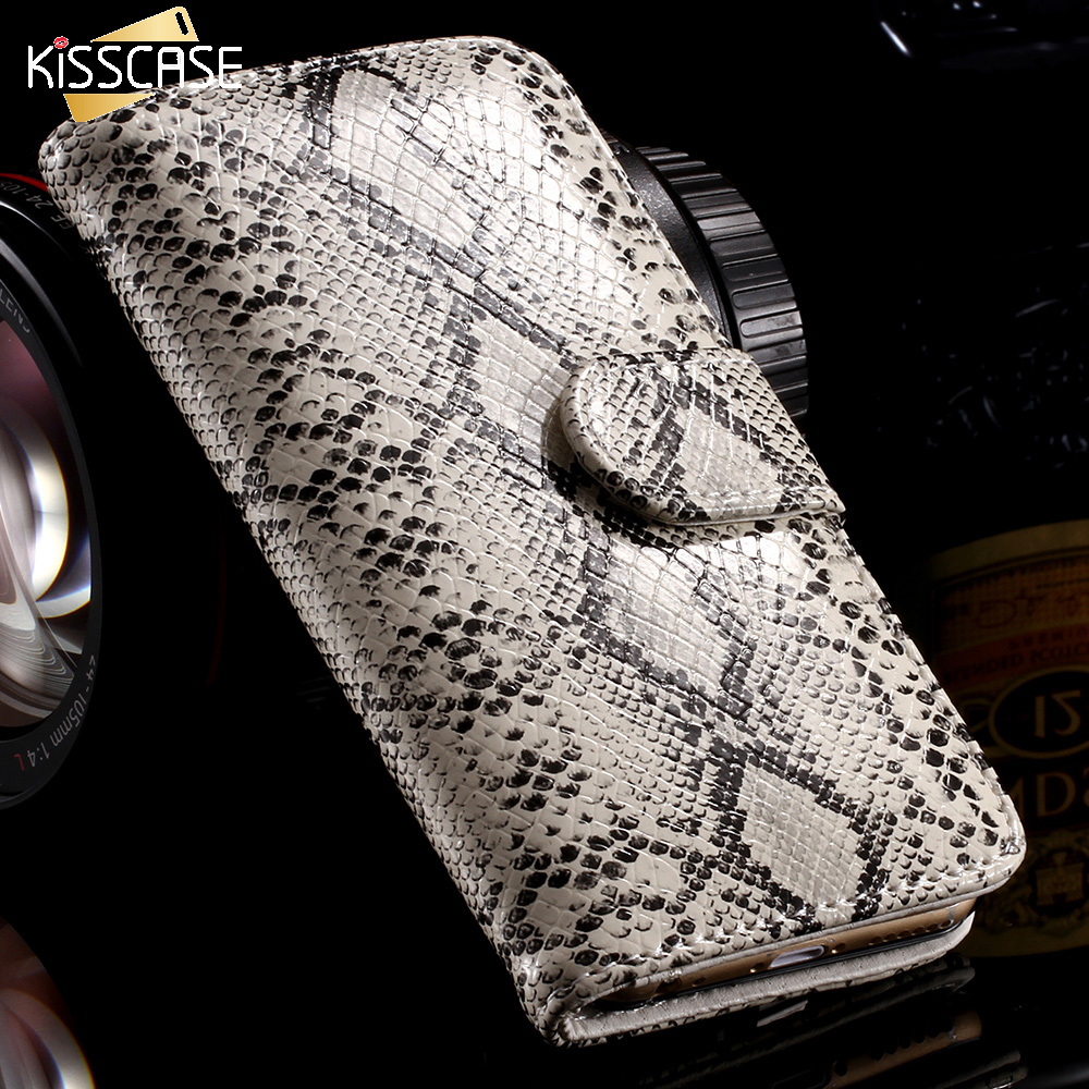 KISSCASE Snake Skin Leather Case for iPhone 5 5S SE Luxury Stand Wallet Card Slot Photo Frame Cover Flip Bag for iPhone 5S 5 SE