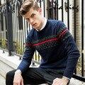 2016 nova outono inverno carta camisola pullovers homens marca de roupas de manga comprida moda Camisola o-pescoço camisola dos homens