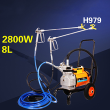 цена на High-pressure airless spraying machine painting sprayer H998 Paint putty spray gun painting/coating machine H989 H979 H999 H6900