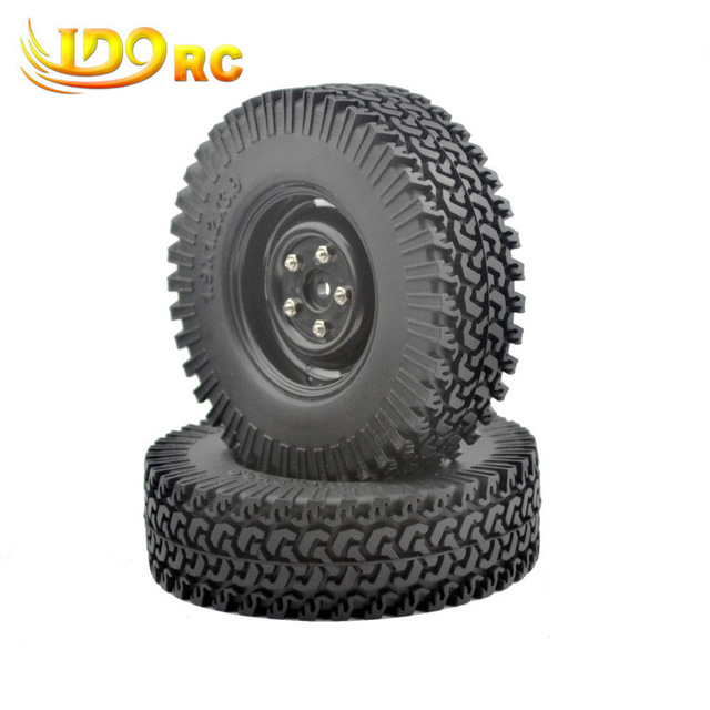 "4PCS 1/10 Crawler Tire Set 1.9"" With Foam Insert for RC Crawlers 1/10 RC Crawler 1.9"" 100MM Tire&Plastic Wheel  set"