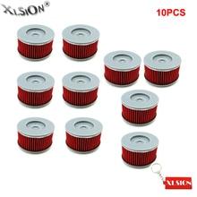 Xlsion 10 шт. Масляные фильтры для мотоциклов Для Honda cbf250 vt125c trx400fw trx350te CB400 atc250sx TRX250 xl125v vt125c trx300ex TRX400EX