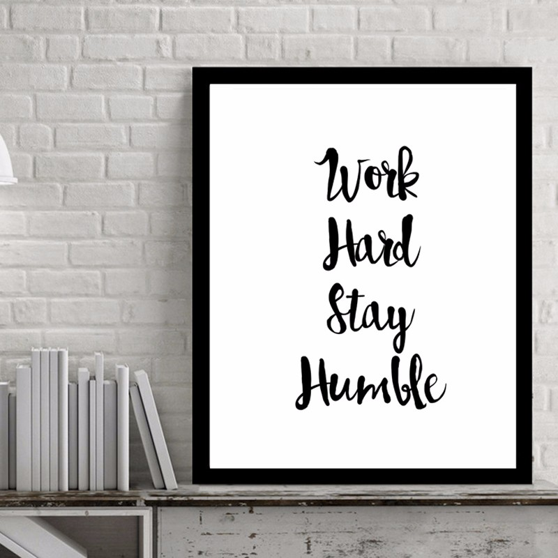 Work Hard Inspiring Quotes Wall Art Digital Poster Canvas Art Oil Paintings Picture Paintings for Living Room Wall No Frame-in Painting u0026 Calligraphy from ...  sc 1 st  AliExpress.com & Work Hard Inspiring Quotes Wall Art Digital Poster Canvas Art Oil ...
