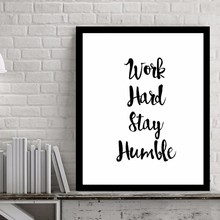 Work Hard Inspiring Quotes Wall Art Digital Poster Canvas Oil Paintings Picture for Living Room No Frame