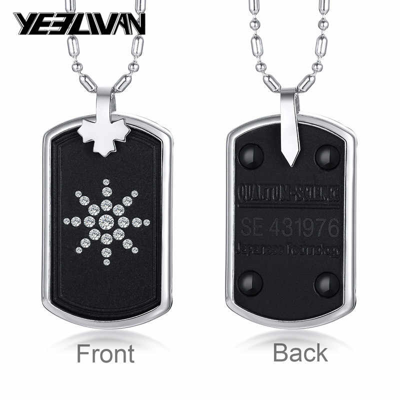 New Quantum Scalar Energy Bio Science Necklaces Pendants for Men Japanese Technology Volcanic Lava Radiation Protection Jewelry