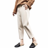 Elegant Autumn Winter Woolen Women S Harem Pants Ladies Thicken Wool Warm Pants Plus Size Loose