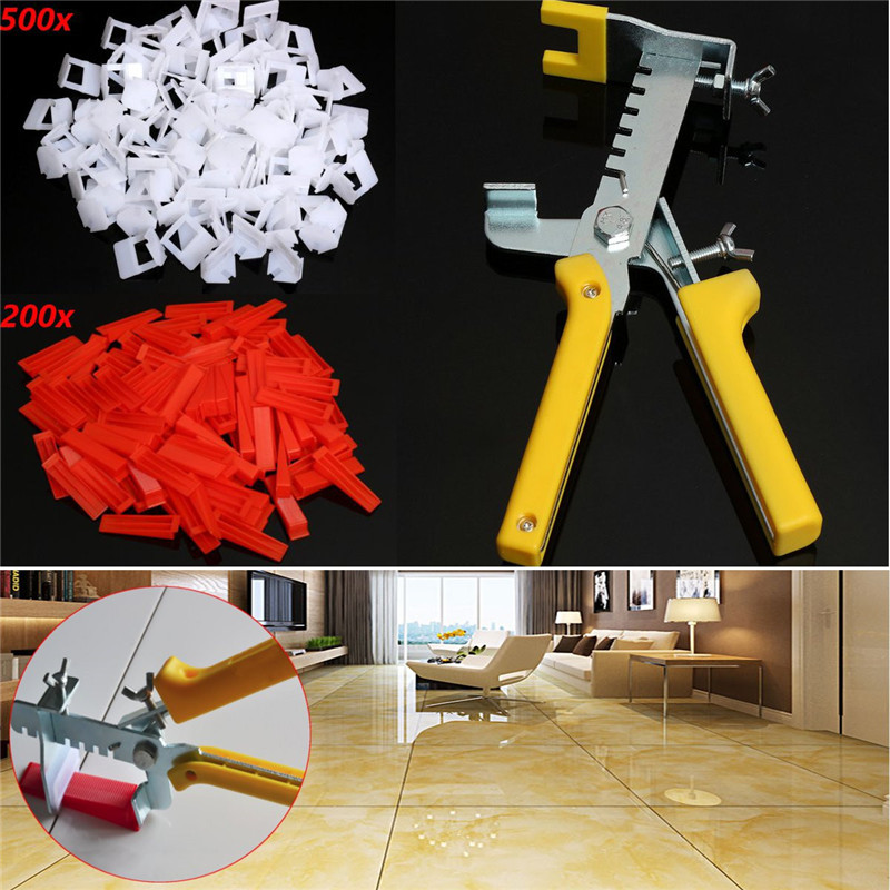 Pliers+500Pcs Clips+200Pcs Wedges Tile Leveling System Levelling Spacer AU Ceramic Floor Pliers Locator Insert Installation thyssen parts leveling sensor yg 39g1k door zone switch leveling photoelectric sensors