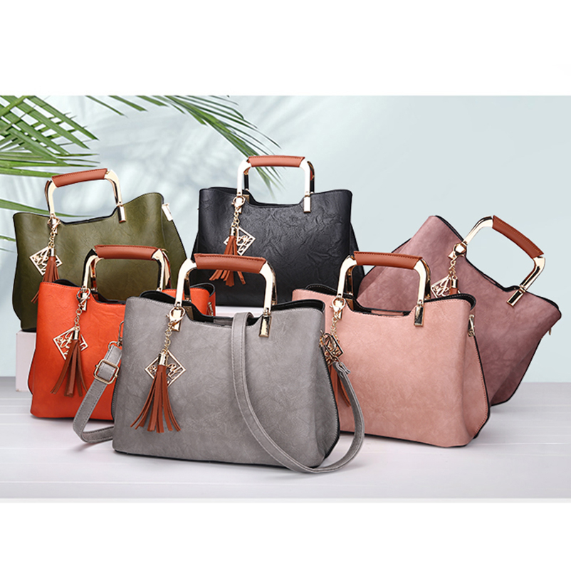 Nevenka Brand Design Women Luxury Handbags Female Tassel Sequined Messenger Bag Quality Leather Tote Solid Zipper Evening Bags06