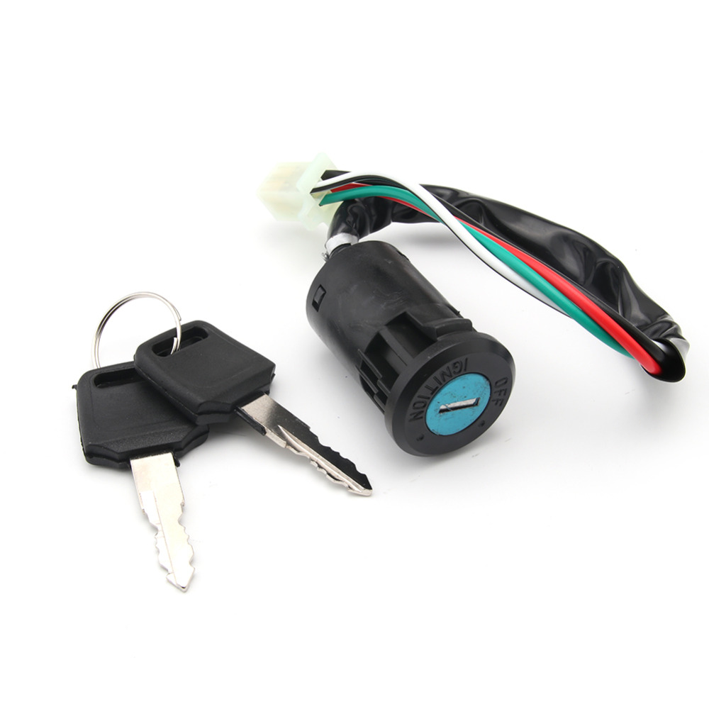 Fxcnc Racing Motorcycle 4 Wire Ignition Switch Lock With Keys Fit Wiring For Chinese Atvs Go