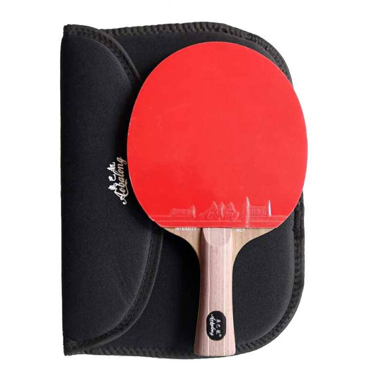Aobalong Nct best quality table tennis racket double face with pimples-in table tennis rubber  2.15-2.2mm sponge pingpong racket