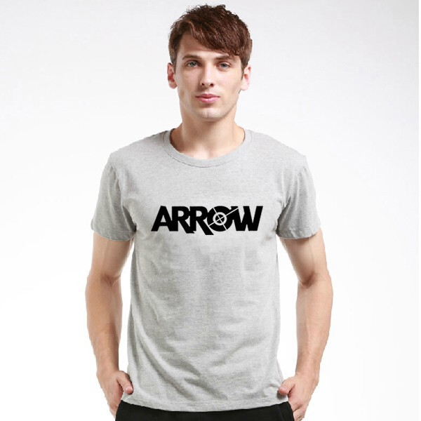 Cheap New Justice League Green Arrow t shirt O-Neck The fashion Justice League t shirts Cotton shirtT shirt o-neck knitted