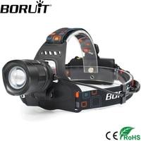 1 Pcs Wholesale Black 2000LM Led Headlamp Cree XMLT6 Rechargeable Zoomable Led Headlight USB POWER BANK