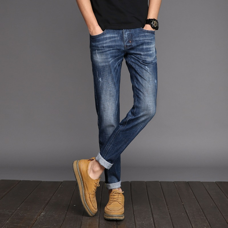 2017 Men s Classic Relaxed Straight Fit Jean Super Comfy Skinny Motorcycle Stretch Knit Durable Denim