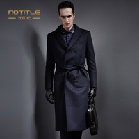 Winter Male Luxury Thicking Outerwear Woolen Trench Business Formal Wool Coat Long Design Suit Collar