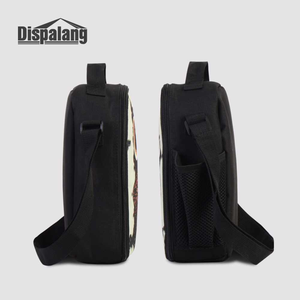 Dispalang Cooler Lunch Box Storage Picnic Bag Shoulder Insulated Lunch Bag For Men Horse Prints Portable Meal Package For Adult