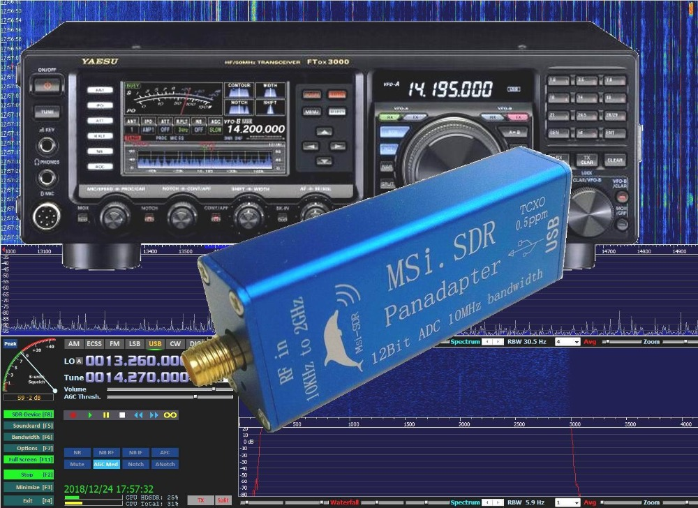 2019 New MSI SDR 10kHz to 2GHz Panadapter SDR receiver Compatible SDRPlay  RSP1