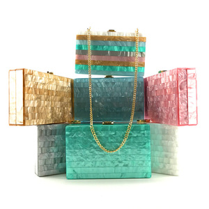Image 1 - 2018 Acryl Clutch Bag Bolsa Feminina Luxe Handtassen Vrouwen Crossbody Tassen Voor Designer Bolsos Mujer Sac A Main Avond Clutch