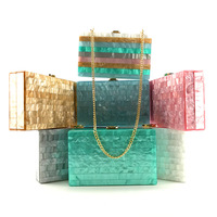 2018 Acrylic Clutch Bag Bolsa Feminina Luxury Handbags Women Crossbody Bags For Designer Bolsos Mujer Sac A Main Drop Shipping