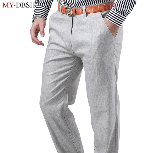nieuwe 2018 mode mannen zomer casual linnen broek katoen casual