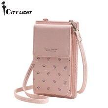 Модные с цветочным принтом Для женщин бумажник многофункциональный телефон кошелек Для женщин мини сумки на плечо молодой кошелек для девочек бренд Crossbody сумки