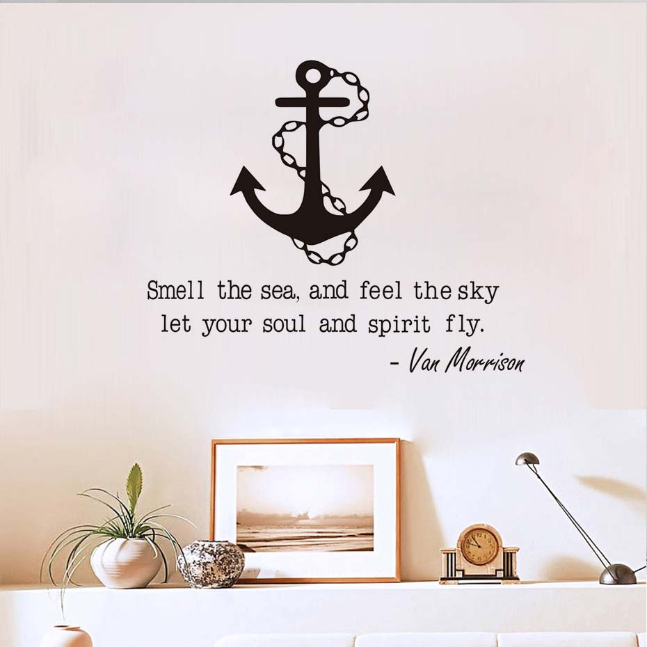 smell the sea and feel the sky inspirational quotes anchor wall