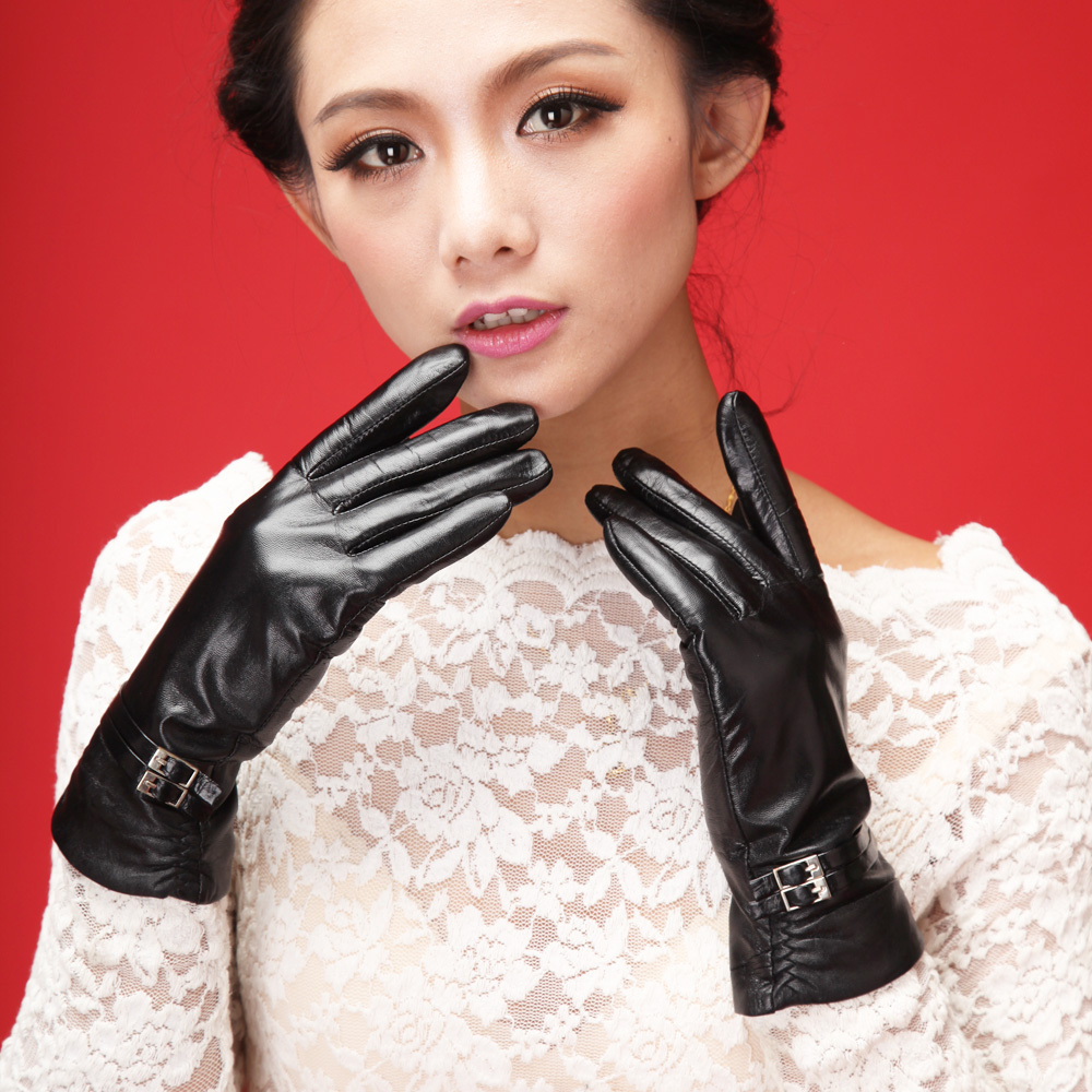 Womens lined leather gloves -  Gloves Womens Leather Gloves