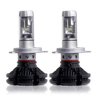 2X High Dipped Beam H4 Led Car Bulbs 6500K SUV 12000LM Headlight Kits X3 Automobile Head