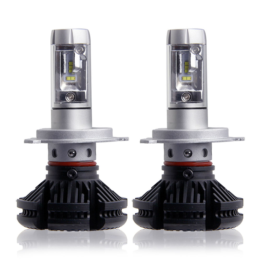 2X High/Dipped Beam H4 Led Car Bulbs 6500K SUV 12000LM Headlight Kits X3 Automobile Head Light 50W/Pair Fan-less ZES Chips lamp  2pcs car headlight bulbs dipped beam