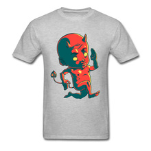 Sleeved Male Top T-shirts The Devil Hurry 3D Printed Tops Tees 100% Cotton Crewneck Crazy Chirstmas Gift T Shirts