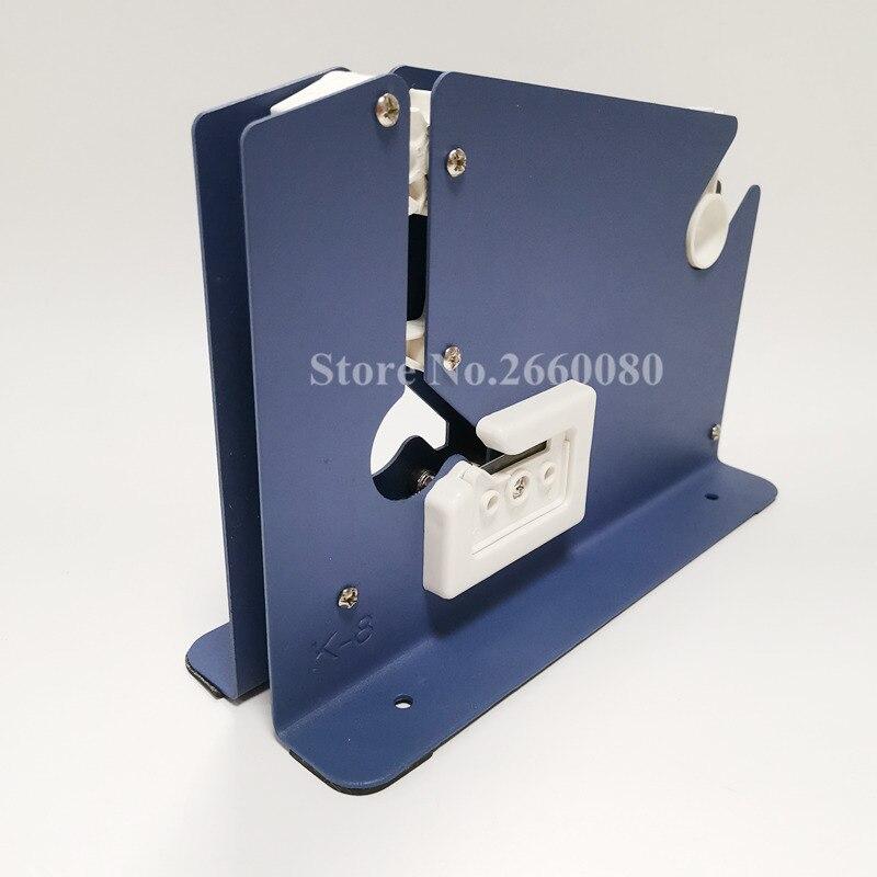 Metal Bag Neck 12mm Tape Sealer Tape Dispenser With Trimmer Cutter For Supermarket Store Bag Packaging Sealing Fastener