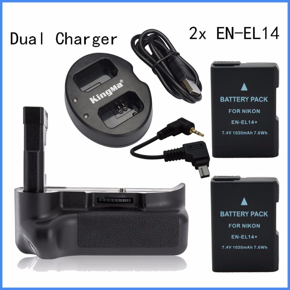 где купить MeiKe MK-D5100 vertical Battery Grip for Nikon D5100 + 2* EN-EL14 + Dual Charger по лучшей цене