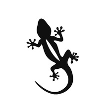 12CM*17.5 Quattro Personality Gecko Animal Motorcycle Car Sticker Decal Sticker Fashion Four-Wheel Drive System xin-525