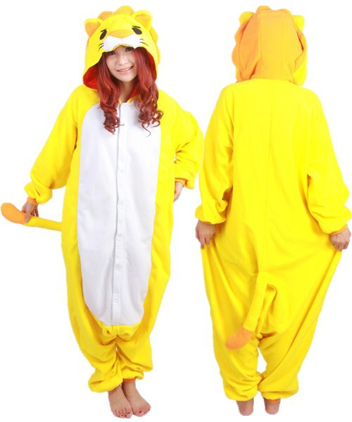 aeb2ca253c64 Hot JP Anime Animal Pajamas Lion jumpsuit Cosplay Costume Women Pyjamas  Party Adult Onesie in Stock-in Anime Costumes from Novelty   Special Use on  ...