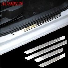 Накладка на порог из нержавеющей стали для Фольксваген Гольф 7 mk7 R 2013 автомобильные аксессуары автостайлинг