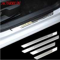 Stainless Steel Door Sill Scuff Plate for VW Volkswagen Golf 7 mk7 R 2013 2014 2015 2016 2017 2018 car accessories car-styling