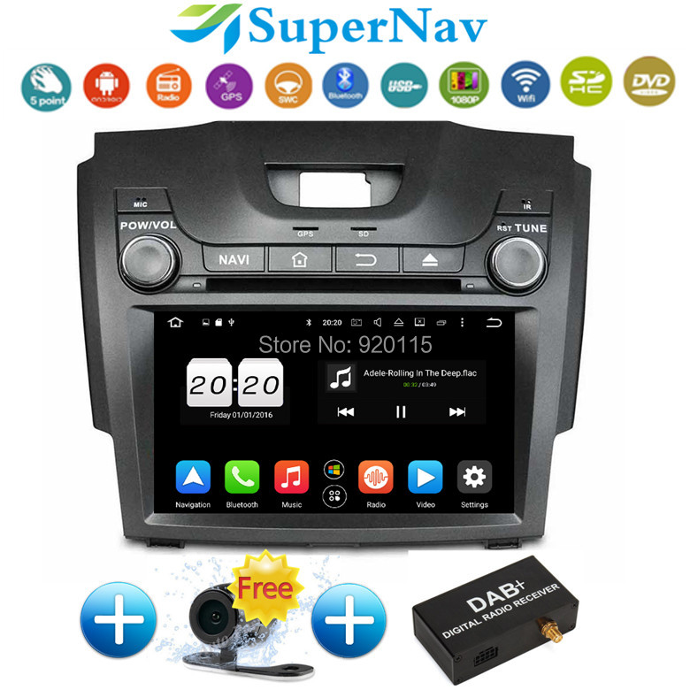 8 android 6 0 1 car dvd gps navigation fit for chevrolet s10 isuzu d max with wifi bt obd2 rds. Black Bedroom Furniture Sets. Home Design Ideas
