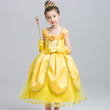 Princess Belle Costume Deluxe Party Fancy Dress Up for Girls