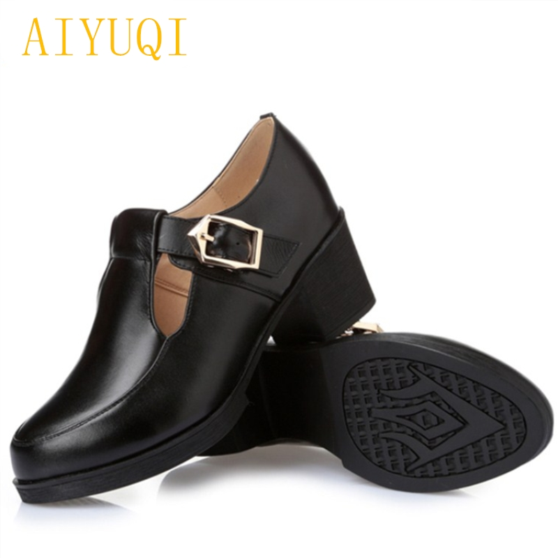 AIYUQI 2018 spring new genuine leather women shoes shallow mouth casual shoes plus size 41#42#43# mother shoes female aiyuqi 2018 new genuine leather women s shoes shallow mouth soft nurse shoes comfortable work spring shoes women