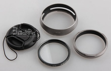 4 In 1 LA 49 Fujifilm Camera Fuji x100 x100s x100t Lens Adapter + Lens Hood + 49mm UV Filter + Lens Cap